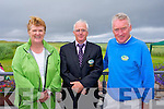 Marion Cummins, Martin Lynch, Eddie Cummins at the Official opening of the New Clubhouse at Castlegregory golf course on Saturday.
