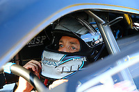 Sep 20, 2014; Ennis, TX, USA; NHRA pro stock driver Jonathan Gray during qualifying for the Fall Nationals at the Texas Motorplex. Mandatory Credit: Mark J. Rebilas-USA TODAY Sports