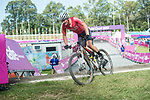 Wales Dylan Kerfoot-Robson in action during the Men's Cross country <br /> <br /> *This image must be credited to Ian Cook Sportingwales and can only be used in conjunction with this event only*<br /> <br /> 21st Commonwealth Games - Mountain Bike Cross Country -  Day 8 - 12\04\2018 - Nerang Mountain Bike Trails <br />  - Gold Coast City - Australia