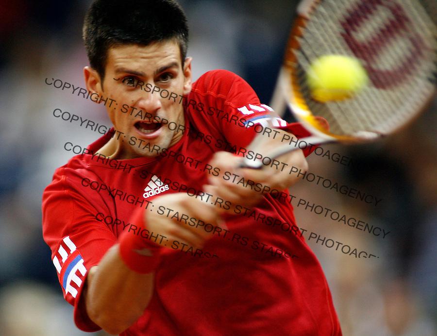 Tenis, Davis Cup, .Serbia Vs. Australia.Novak Djokovic Vs. Peter Luczak.Belgrade, 21.09.2007..foto; Srdjan Stevnovic