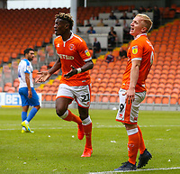 Blackpool's Mark Cullen reacts after his second goal was ruled out<br /> <br /> Photographer Alex Dodd/CameraSport<br /> <br /> The EFL Sky Bet League One - Blackpool v Portsmouth - Saturday August 11th 2018 - Bloomfield Road - Blackpool<br /> <br /> World Copyright &copy; 2018 CameraSport. All rights reserved. 43 Linden Ave. Countesthorpe. Leicester. England. LE8 5PG - Tel: +44 (0) 116 277 4147 - admin@camerasport.com - www.camerasport.com
