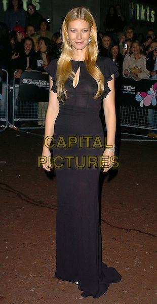 "GWYNETH PALTTROW.The London BFI London Film Festival: ""Proof"" - screening at Odeon West End, WC2, London, UK..October 22nd, 2005.Ref: CAN.full length black dress.www.capitalpictures.com.sales@capitalpictures.com.©Capital Pictures"