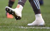 3rd December 2017, Twickenham Stoop, London, England; Aviva Premiership rugby, Harlequins versus Saracens; Joe Marler of Harlequins has heavily taped boots before kick off