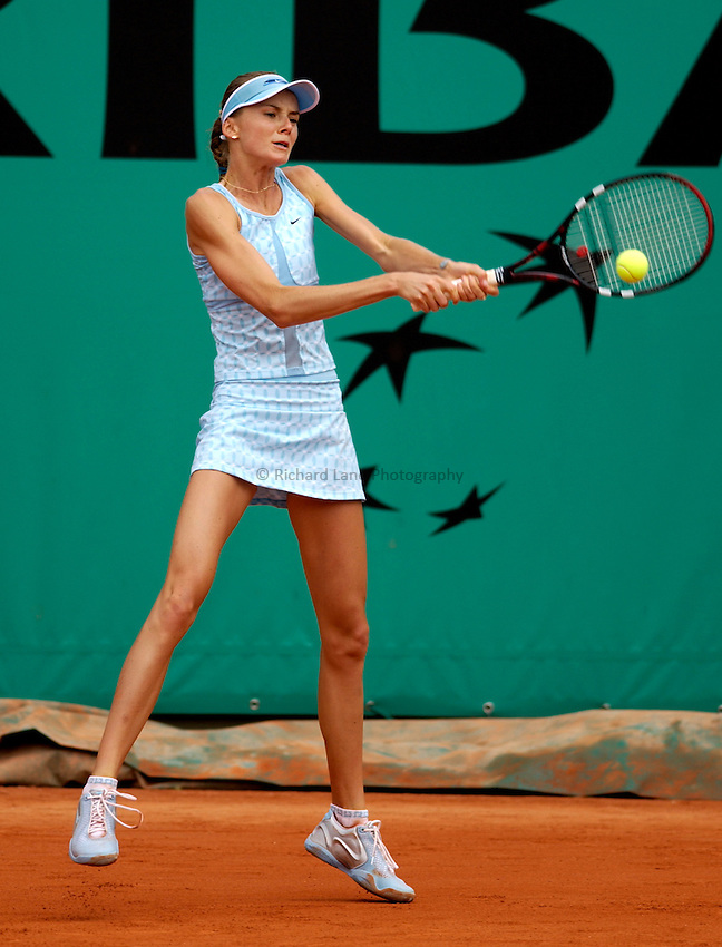 Photo. Jed Wee..French Open Tennis Championships, Roland Garros, Paris, France. 28/05/2003..Daniela Hantuchova.