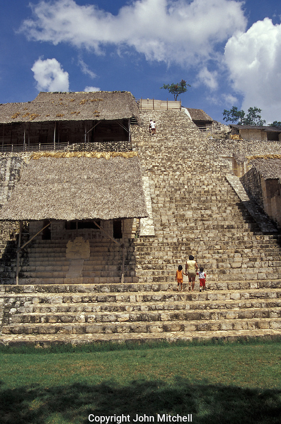 The Acropolis, the largest structure at the Mayan ruins of Ek' Balam, Yucatan, Mexico