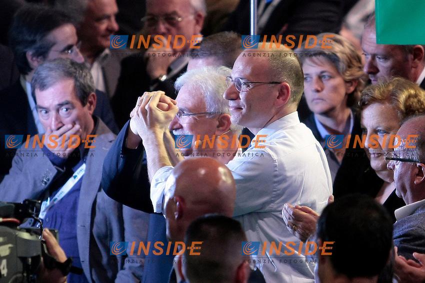 Raffaele Bonanni ed Enrico Letta<br /> Roma 12/06/2013 Palazzo dei Congressi. XVII Congresso Interfederale della CISL.<br /> Photo Samantha Zucchi Insidefoto