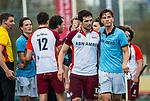 ALMERE - Hockey - Hoofdklasse competitie heren. ALMERE-HGC (0-1) . Stijn Jolie (Almere) met rechts doelpuntenmaker Jorrit Croon (HGC) . COPYRIGHT KOEN SUYK