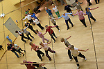 Pix: Shaun Flannery/sf-pictures.com....COPYRIGHT PICTURE>>SHAUN FLANNERY>01302-570814>>07778315553>>..7th April 2008..........DMBC, Borough Tresure Pass, members use the facilities at Doncaster Dome including Line Dancng & Salsa.