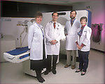 NOT MODEL RELEASED; FOR EDITORIAL USE ONLY... Portrait of a group of M.D.cancer specialists