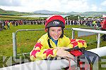 Young jockey Jack Kennedy from Dingle (12)  who took part in the Dingle Races on Sunday..