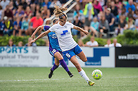 Allston, MA - Sunday July 31, 2016: Julie King, Maddy Evans during a regular season National Women's Soccer League (NWSL) match between the Boston Breakers and the Orlando Pride at Jordan Field.