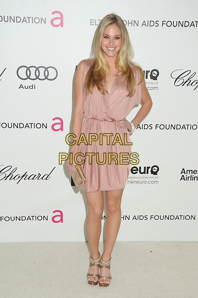 Abigail Klein.20th Annual Elton John Academy Awards Viewing Party held at West Hollywood Park, West Hollywood, California, USA..February 26th, 2012.full length dress hand on hip pink.CAP/ADM/BP.©Byron Purvis/AdMedia/Capital Pictures.