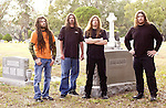 Metal Blade Recording artists, Six Feet Under, pose for a portrait session for their new CD to be released in 2005.