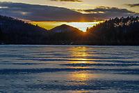 Sunset, Crane Pond, Adirondack Forest Preserve, New York