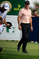 Rory McIlroy (NIR) on the 10th tee during the 3rd round of the DP World Tour Championship, Jumeirah Golf Estates, Dubai, United Arab Emirates. 17/11/2018<br /> Picture: Golffile | Fran Caffrey<br /> <br /> <br /> All photo usage must carry mandatory copyright credit (&copy; Golffile | Fran Caffrey)
