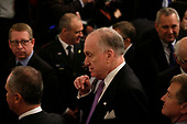 Ronald S. Lauder attends a meeting with United States President Donald J. Trump and Israel's Prime Minister Benjamin Netanyahu in the East Room of the White House in Washington, D.C.,on Tuesday, January 28, 2020. Credit: Joshua Lott / CNP