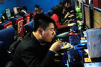 A packed internet cafe in Beijing, China..25 Feb 2008