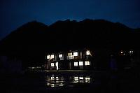 Night view of a hospital following the 311 Tohoku Tsunami in Otsuchi, Japan  © LAN