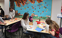 NWA Democrat-Gazette/J.T. WAMPLER Children make a variety of crafts Tuesday Nov. 26, 2019 during craft time at the Springdale Public Library. The library hosts Movie Day today,((WEDNESDAY NOV 27)) showing Toy Story 4 at 10:00 A.M. For information about activities at the library visit https://www.springdalelibrary.org/