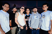 MIAMI FL - APRIL 27 : Mike Shinoda, Joe Hahn, Chester Bennington, Dave Farrell, Brad Delson and Rob Bourdon of Linkin Park pose for a portrait at Bayfront Park Ampitheatre on June 6, 2001 in Miami, Florida. : Credit Larry Marano (C) 2013