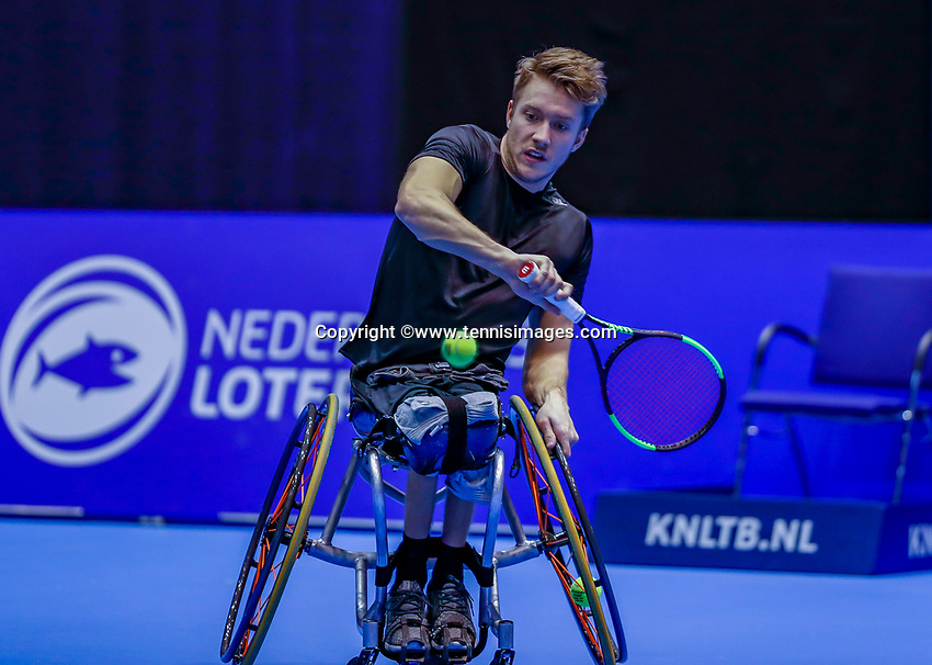 Rotterdam, Netherlands, December 12, 2017, Topsportcentrum, Ned. Loterij NK Tennis,  Wheelchair, Rody de Bie (NED)<br /> Photo: Tennisimages/Henk Koster