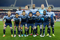 Harrison, NJ - Wednesday Feb. 22, 2017: Vancouver Whitecaps FC Starting Eleven prior to a Scotiabank CONCACAF Champions League quarterfinal match between the New York Red Bulls and the Vancouver Whitecaps FC at Red Bull Arena.