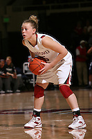 STANFORD, CA - NOVEMBER 1:  Lindy LaRocque of the Stanford Cardinal during Stanford's 107-49 win over Vanguard on November 8, 2009 at Maples Pavilion in Stanford, California.