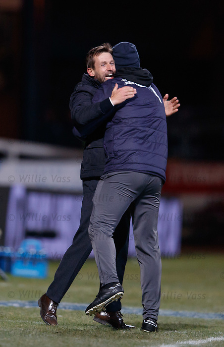 Neil McCann celebrates as Dundee score goal no 2