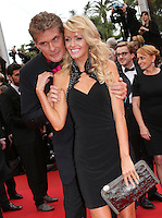 David Hasselhoff &  Hayley Roberts at the 'Jeune & Jolie 1ere  at the 66th Cannes Film Festival