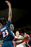 STANFORD, CA - JANUARY 6: Chiney Ogwumike runs down the University of Arizona at Maples Pavilion, January 6, 2011 in Stanford, California.