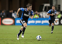 Bobby Convey dribbles the ball. The Chicago Fire defeated the San Jose Earthquakes 3-0 at Buck Shaw Stadium in Santa Clara, California on September 29th, 2010.