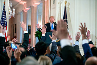 United States President Donald J. Trump holds a press conference in the East Room of the White House in Washington, DC on Wednesday, November 7, 2018.<br /> Credit: Ron Sachs / CNP/Mediapunch<br /> (RESTRICTION: NO New York or New Jersey Newspapers or newspapers within a 75 mile radius of New York City)