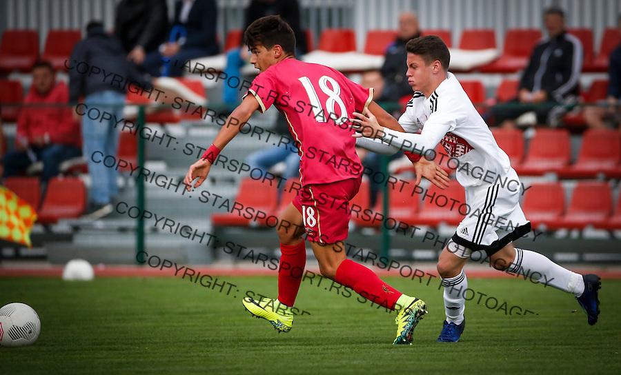 Fudbal Soccer<br /> International Friendly-Prijateljski mec<br /> Srbija U17 v Belorusiaj U17<br /> Stefan Stankovic (L)<br /> Stara Pazova, 20.09.2016<br /> foto: Srdjan Stevanovic/Starsportphoto &copy;