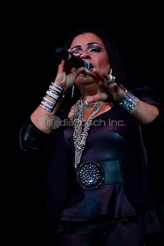 CORAL GABLES, FL - FEBRUARY 27: Lisa Lisa performs during the Super Freestyle Explosion concert at BankUnited Center on February 27, 2015 in Coral Gables, Florida. Credit: MPI10 / MediaPunch