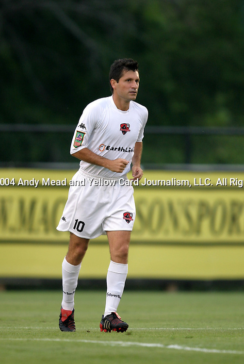30 June 2004: Alex Pineda-Chacon before the match. The Atlanta Silverbacks of the A-League defeated the Carolina Dynamo of the Premier Development League 3-2 in sudden death overtime at McPherson Stadium in Brown's Summit, NC during a third round Lamar Hunt U.S. Open Cup match..
