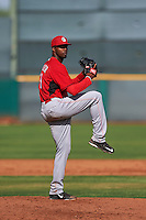 Cincinnati Reds pitcher Rock Rucker (59) during an instructional league game against the Cleveland Indians on October 17, 2015 at the Goodyear Ballpark Complex in Goodyear, Arizona.  (Mike Janes/Four Seam Images)