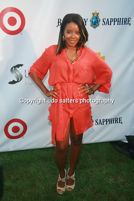 Angela Simmons Attends Russell Simmons' 12th Annual Art for Life East Hampton Benefit, NY 7/30/11