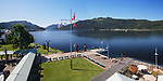 Port Alberni Harbour Quay panoramic view of Alberni Inlet, Vancouver Island, British Columbia, Canada 2018 Image © MaximImages, License at https://www.maximimages.com