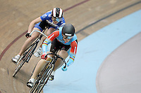 Australia's Anna Meares competeing in the Women Sprint at the 2014 Oceania Track Championships, Sit Zero Fees Velodrome, Invercargill, New Zealand, Friday, November 22, 2013. Photo: Dianne Manson / NINZ