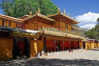 Viewing Pavilion at the Summer Palace, or Norbulingka, residence of Dalai Lama, founded by 7th Dalai Lama in 1755, Lhasa, Tibet, China.