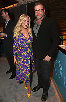 LOS ANGELES, CA - FEBRUARY 6:  Tori Spelling and her husband Dean McDermott attend the FOX Winter TCA 2019 All Star Party at The Fig House on February 6, 2019 in Los Angeles, California. (Photo by Stewart Cook/Fox/PictureGroup)