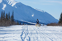 Marianna Mallory during the 2015 Junior Iditarod start along the Denali Highway <br /> <br /> <br /> <br /> (C) Jeff Schultz/SchultzPhoto.com - ALL RIGHTS RESERVED<br />  DUPLICATION  PROHIBITED  WITHOUT  PERMISSION