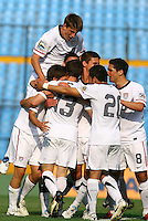 USA Under 20 Goal Celebration. USA Men's Under 20 defeated Panama 2-0 at Estadio Mateo Flores in Guatemala City, Guatemala on April 2nd, 2011.