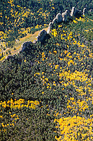 Natural dikes at base of Spanish Peaks near LaVeta, Colorado