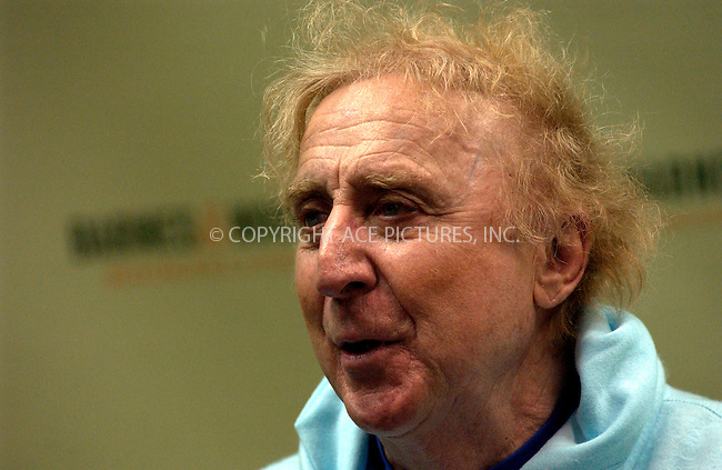 WWW.ACEPIXS.COM . . . . . ....NEW YORK, MARCH 15, 2005....Gene Wilder signs copies of his new book 'Kiss Me Like a Stranger' at the Rockefeller Center location of Barnes and Noble.....Please byline: KRISTIN CALLAHAN - ACE PICTURES.. . . . . . ..Ace Pictures, Inc:  ..Philip Vaughan (646) 769-0430..e-mail: info@acepixs.com..web: http://www.acepixs.com