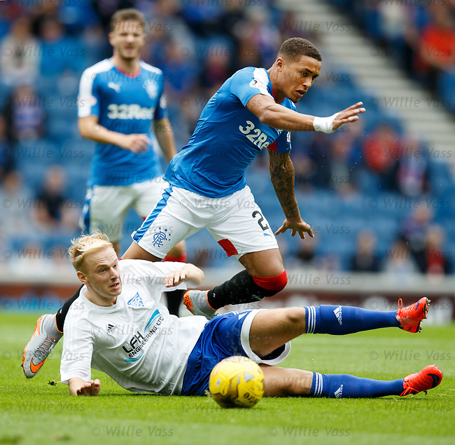 James Tavernier and Jordon Brown