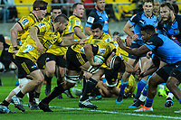 Hurricanes' Reed Princep takes the ball up during the Super Rugby quarterfinal between the Hurricanes and Bulls at Westpac Stadium in Wellington, New Zealand on Saturday, 22 June 2019. Photo: Dave Lintott / lintottphoto.co.nz
