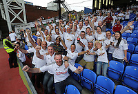 Pictured: Swansea supporters<br />