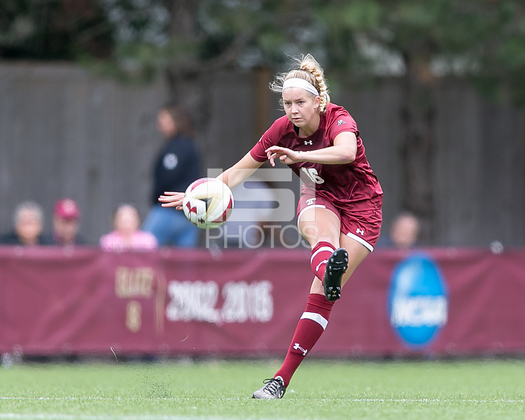 Newton, Massachusetts - September 9, 2018: NCAA Division I. Boston College (white) defeated Temple University (cherry), 4-1, at Newton Campus Soccer Field.