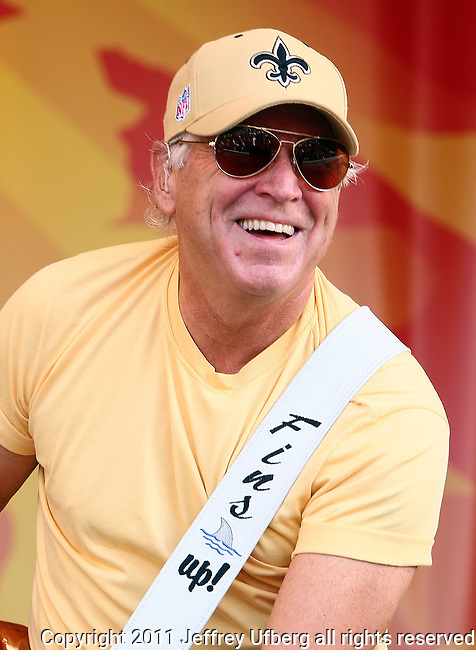 """May 7, 2011 New Orleans, La.:Singer / Musician Jimmy Buffett performs """"2011 New Orleans Jazz & Heritage Festival"""" on May 7, 2011 in New Orleans, La."""